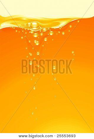 The raster version background of orange juice.