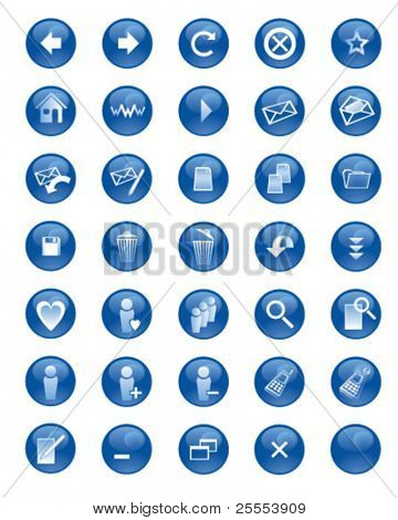 Set of icons for websites and on-line communities