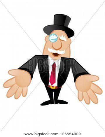 Illustration of a Rich Man