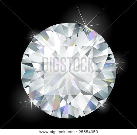Błyszczący diament jasny