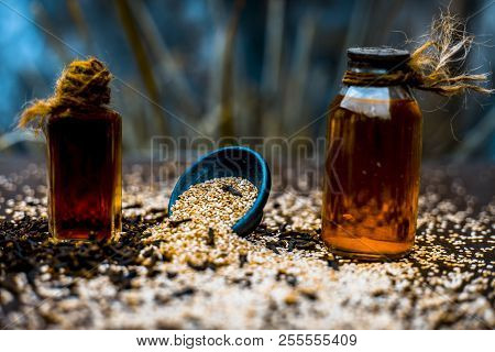 Effective And Faithful Home Remedy For Earache I.e. Sesame Seeds Oil With Clove Oil. Raw Sesame Seed