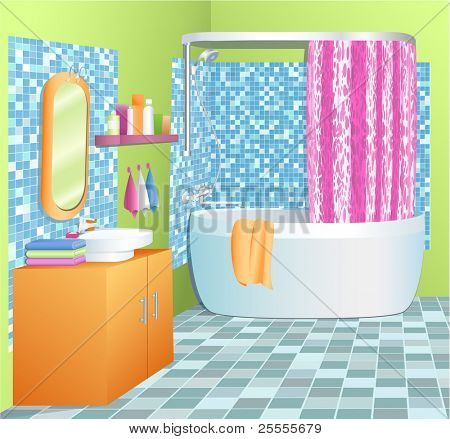 Bathroom - vector illustration