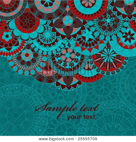 Ornate background with copy space.