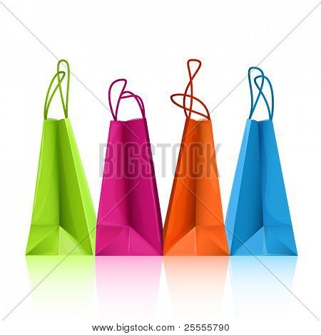 Vettoriali colorate shopping bags