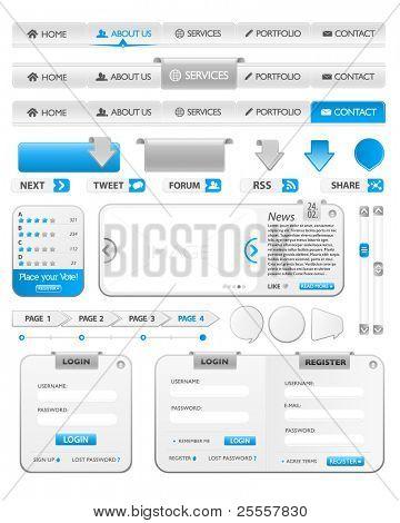 Blue web element collection illustration 2
