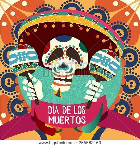 Dia de los muertos vector photo free trial bigstock dia de los muertos card for dau of the dead greeting vector illustration m4hsunfo