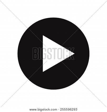 Play Button Icon Isolated On White Background. Play Button Icon In Trendy Design Style. Play Button