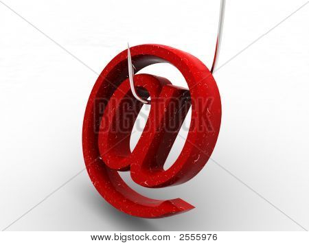 Symbol For Internet On Fishing Hook