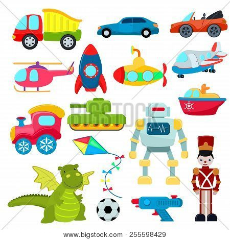 Kids Toys Vector Vector Photo Free Trial Bigstock