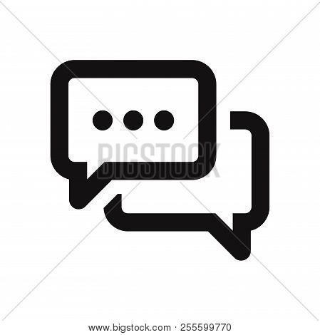 Speech Bubble Icon Isolated On White Background. Speech Bubble Icon In Trendy Design Style. Speech B