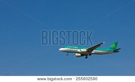 Budapest, Hungary - June 11, 2018; Aer Lingus Airlines Airbus A320-214 With The Registration Ei-cva