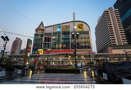 Bangkok, Thailand, March 01, 2017 -  Big C Supercenter Mall Building Locate At Rachdamri Road Branch