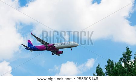Budapest Liszt Ferenc, Hungary - June 11, 2018: A Wizz Air Airbus A320-214 With The Registration Ha-