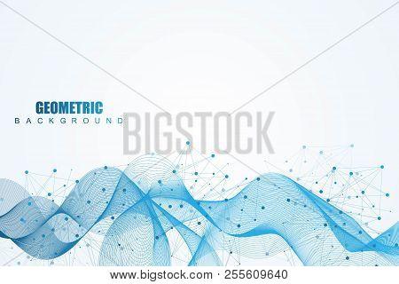 Big Data Visualization Background. Modern Futuristic Virtual Abstract Background. Science Network Pa