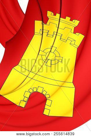 3d Flag Of Middelburg, Netherlands. 3d Illustration.