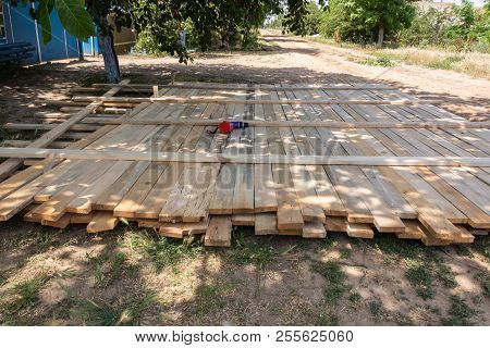 Wooden Formwork Concrete Strip Foundation For A-frame Type House