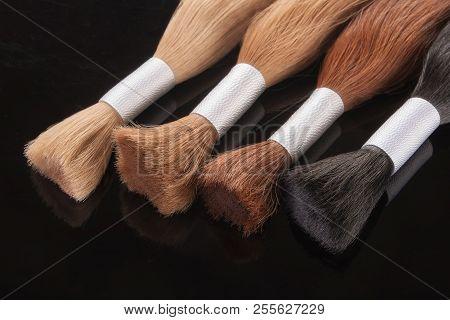 False Colored Hair. Hair For Hair Extension.