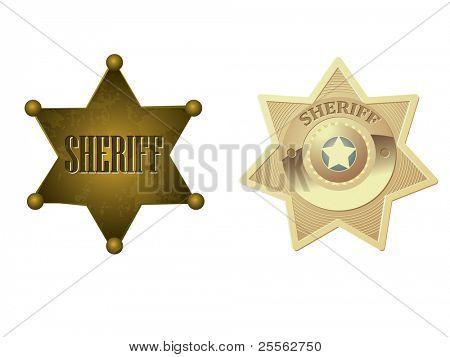 Emblema do xerife dourado
