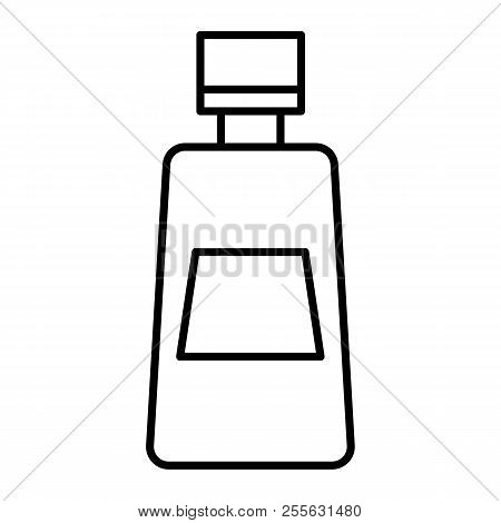 Ketchup Bottle Thin Line Icon. Tomato Ketchup Vector Illustration Isolated On White. Bottle Of Catsu