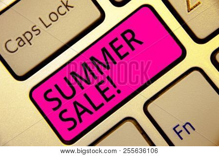 Text Sign Showing Summer Sale. Conceptual Photo Annual Discount Events That Takes Place During Summe