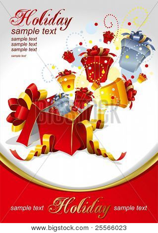 Vector editable illustration of gifts for Holidays