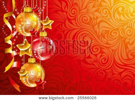 Beautiful Christmas background. Vector.
