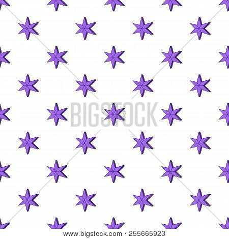 Heavenly Six Pointed Star Pattern. Cartoon Illustration Of Heavenly Six Pointed Star Pattern For Web