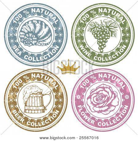 set of rubber stamps, vector illustration
