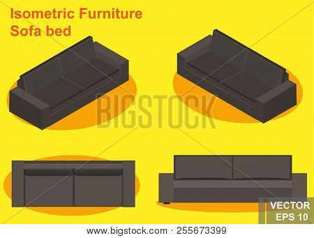 Sofa Bed Isometry Vector Photo Free Trial Bigstock
