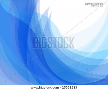 Vector abstract blue and white backgrounds with curve shapes