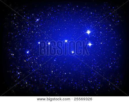 starry night sky and Great Bear constellation - JPG