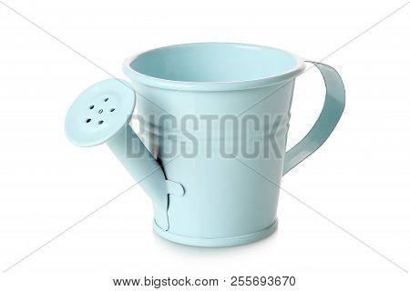 Cyan Watering Can Isolated On White Background