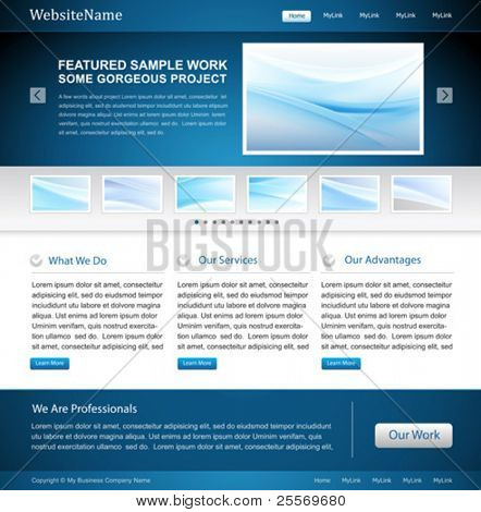 business website design template