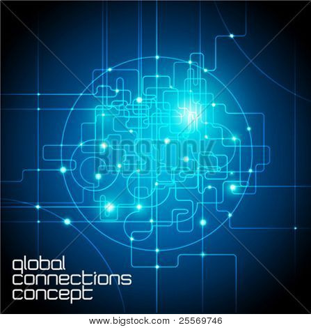 abstract background global internet connections concept
