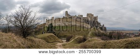 Castle Ruin - Hrad Beckov At Slovakia
