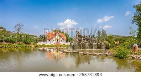 Samut Prakan, Thailand, March 2017 - The Wihan At Wat Phumin, Nan, Ancient City, Samut Prakan, Thail