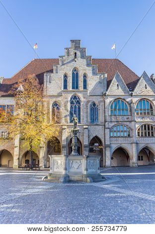 Hildesheim, Germany - October 15, 2017: City Hall Building At The Market Square Of Hildesheim, Germa