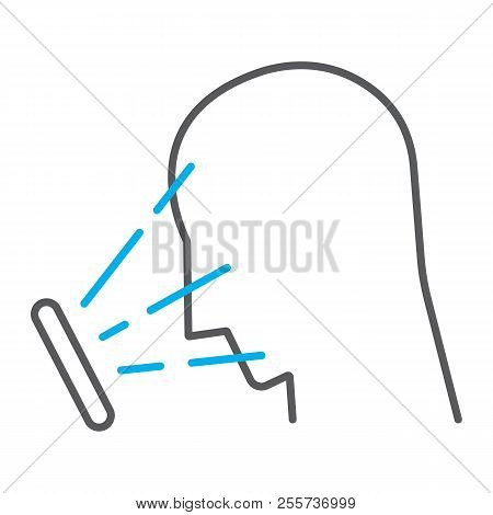 Face Id Thin Line Icon, Face Recognition And Face Identification, Face Scanning Sign, Vector Graphic