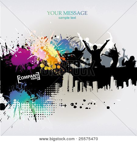 Vector. Template grunge party