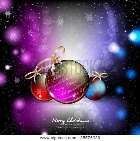 Christmas  ball background. Vector.