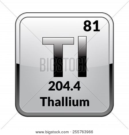 Thallium images illustrations vectors free bigstock thallium symbolemical element of the periodic table on a glossy white background in a urtaz Choice Image