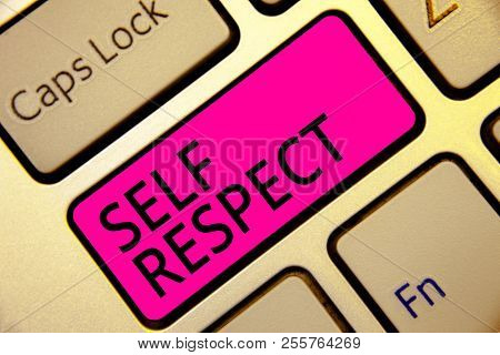 Text Sign Showing Self Respect. Conceptual Photo Pride And Confidence In Oneself Stand Up For Yourse