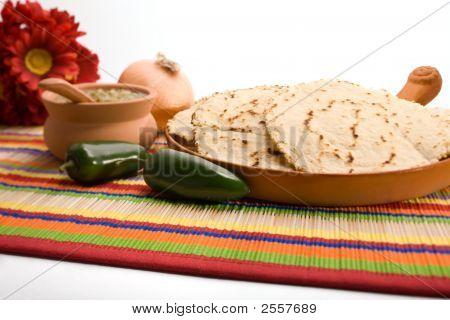 Fresh Homemade Tortillas And Salsa