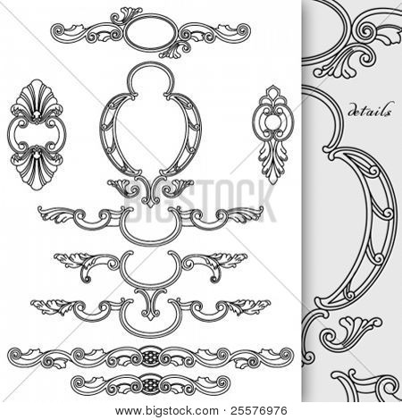 Cartouches collection. Good for text decoration