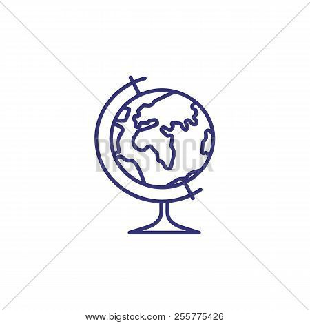 Globe Line Icon. Navigational Equipment, Visual Aid, Geography. Navigation Concept. Vector Illustrat