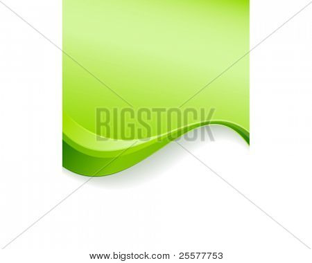Green wave background template. Abstract background with copy space for text. Use of linear gradients, blends and global color swatches. Great for environment or nature related topics.