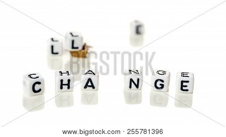 Removing White Cubes With Letters L And E Of The Word Challenge Creating New Word Change On White Ba