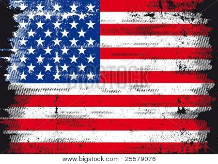 Us Grunge flag A used patriotic US Flag