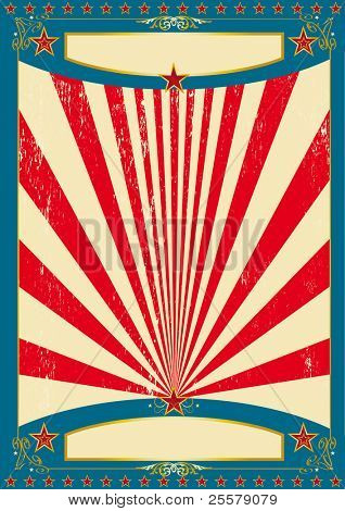 America for ever A vintage american for a poster.