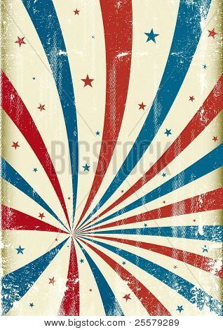 Tricolor grunge circus background. A patriotic circus background for a poster.